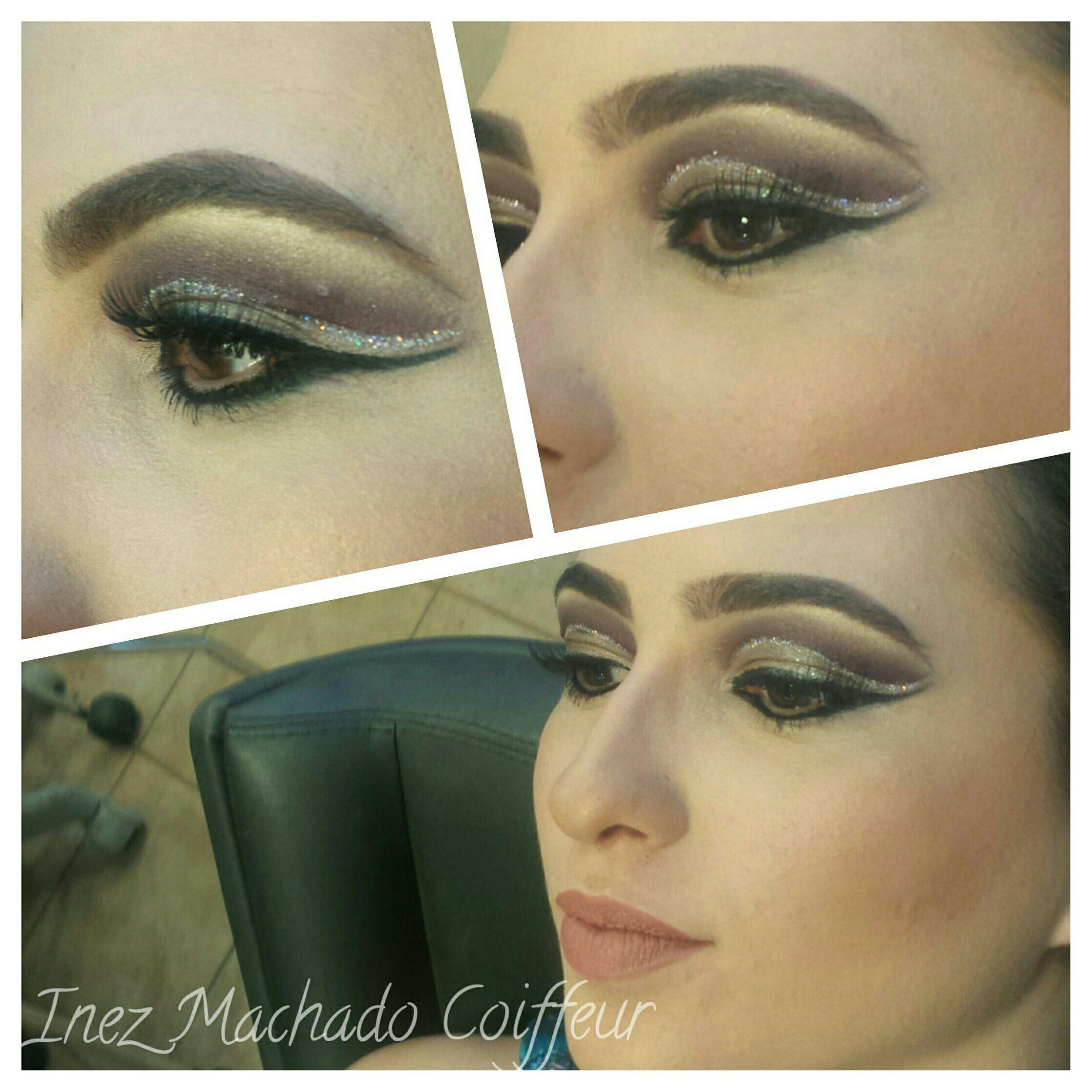 Make com Glitter delineador maquiagem cabeleireiro(a) stylist / visagista