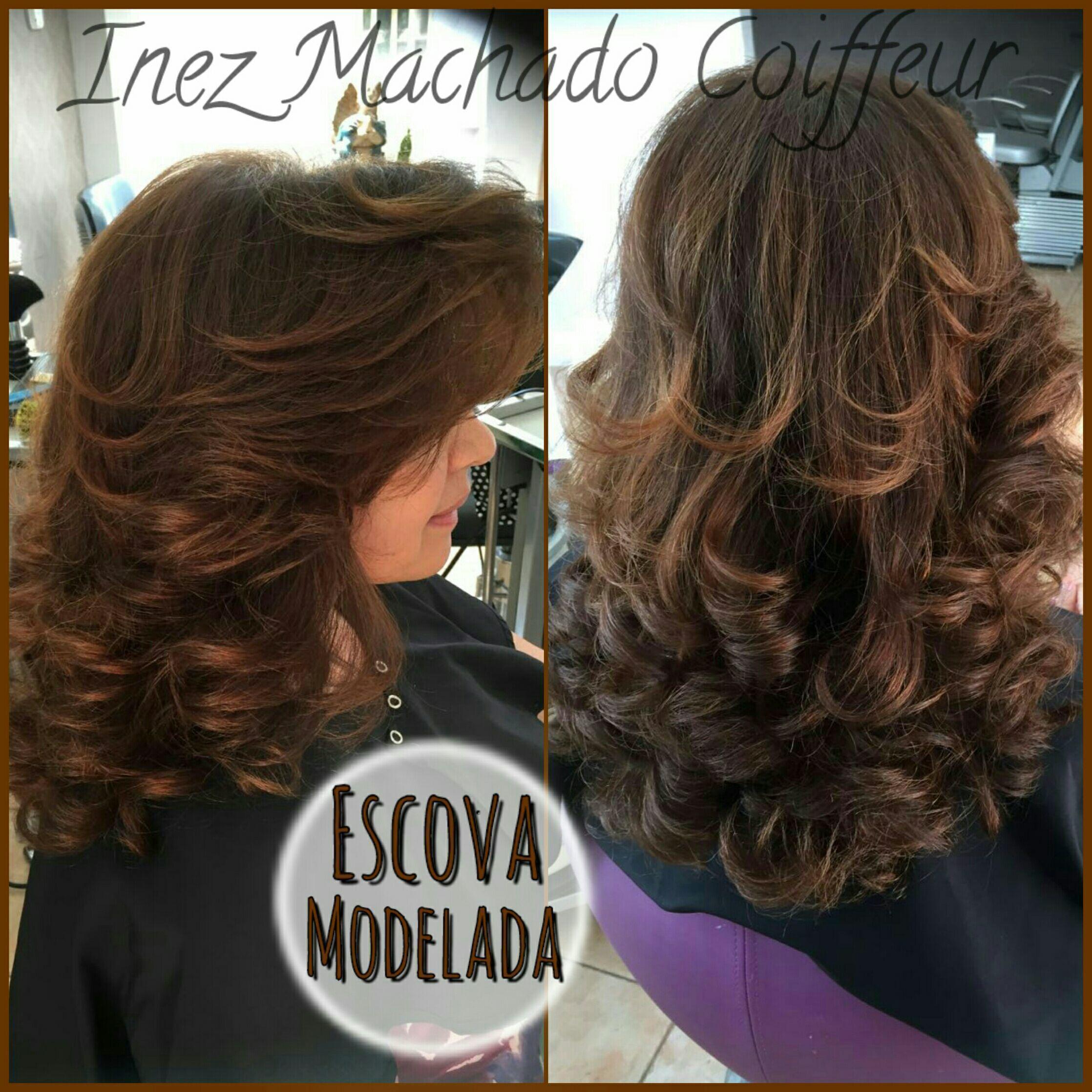 Corte Repicado em Camadas e Desfiado. Escova modelada. cabelo cabeleireiro(a) stylist / visagista