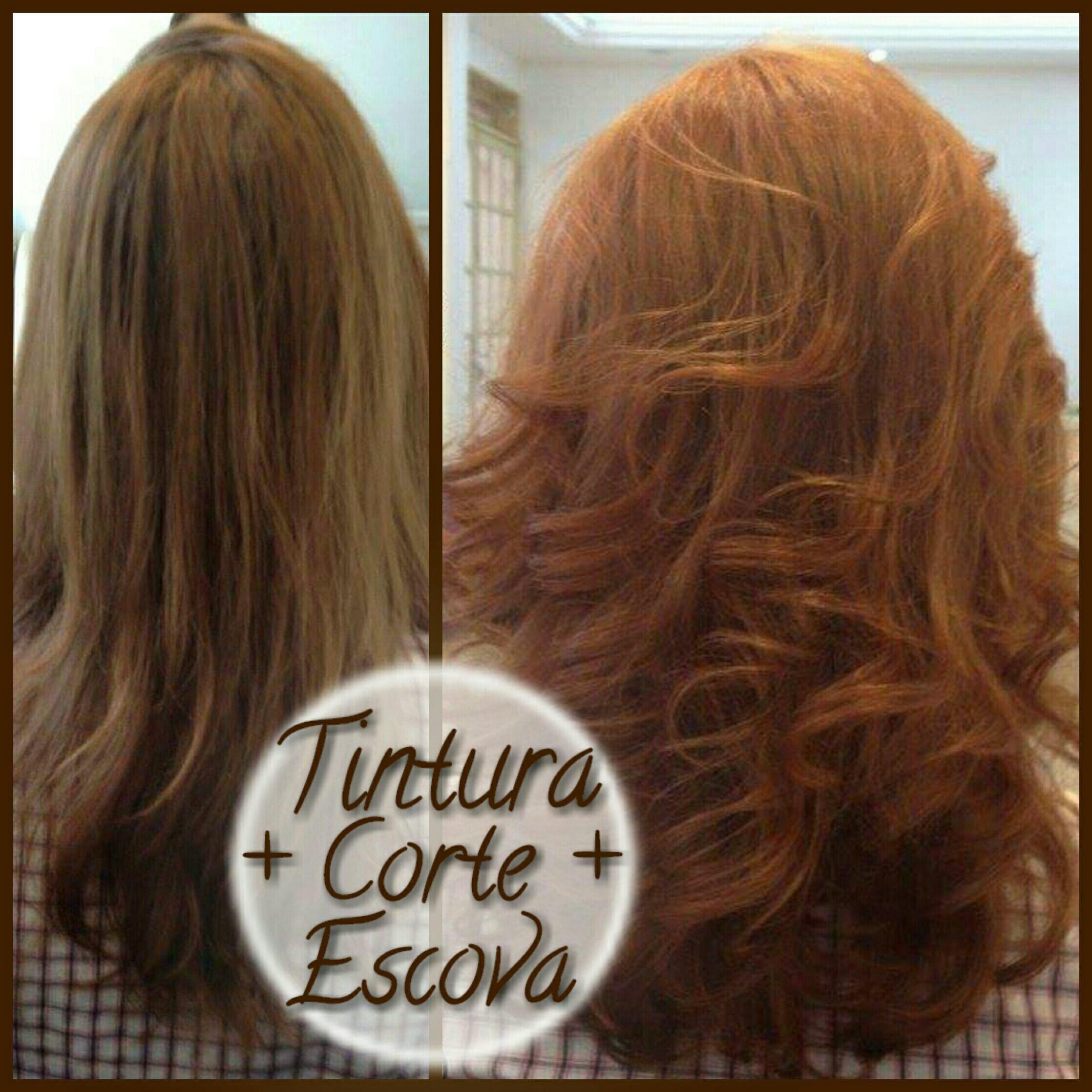 Tintura com Keune, Corte repicado simétrico, e escova modelada. cabelo cabeleireiro(a) stylist / visagista