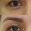 Design de sobrancelhas com simetria facial