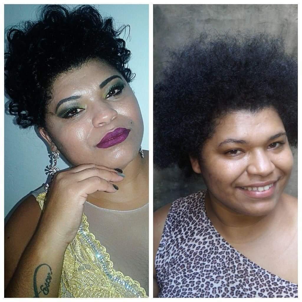 Cabelo e make o antes e o depois maquiagem outros