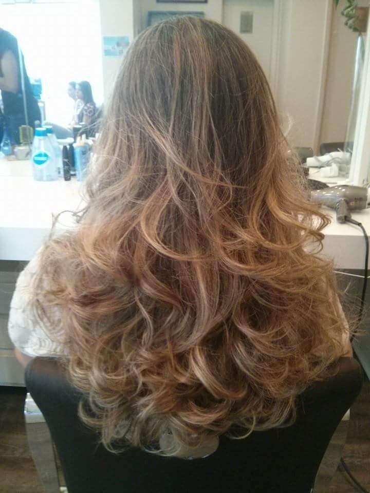 Corte cor ombre e brushing cabelo cabeleireiro(a) stylist / visagista