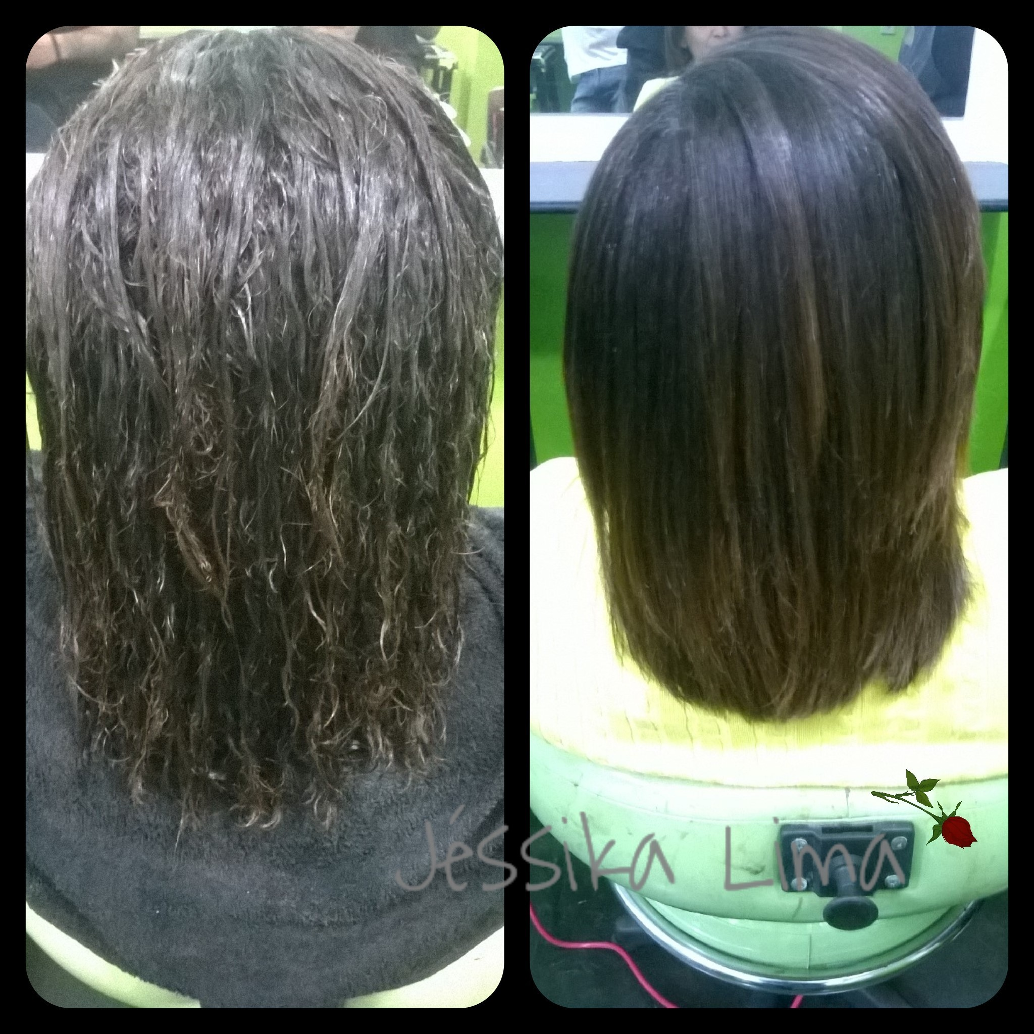 Cauterização com queratina Aloha Cosméticos. cabelo cabeleireiro(a) estudante (esteticista)