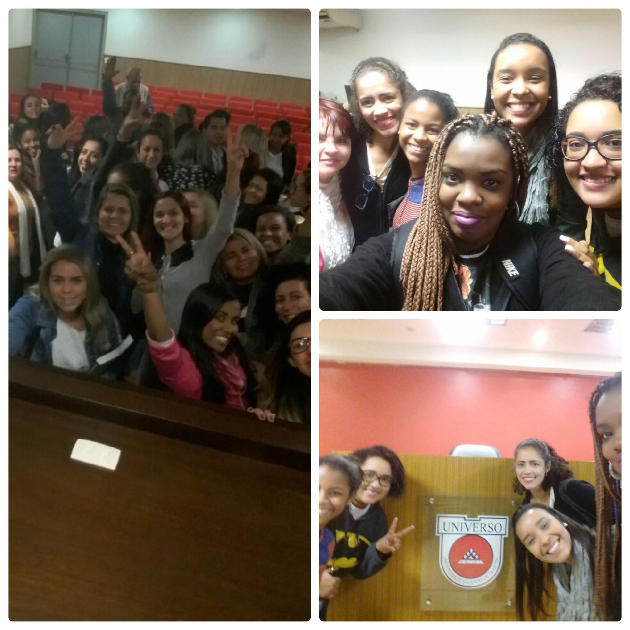Aula Inaugural Curso de Estética -2 semestre 2016 Universidade Salgado de Oliveira =D estética cabeleireiro(a) estudante (esteticista)