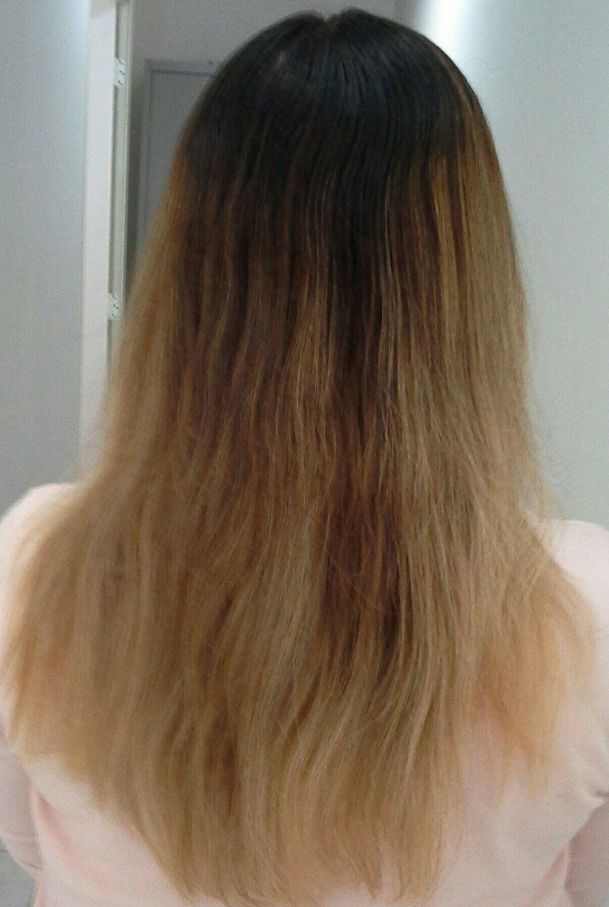 Antes  e depois de uma  correção de cor  Profissional . Vera Lúcia cabelo stylist / visagista cabeleireiro(a)