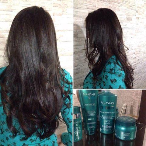 Devolvendo vida aos cabelos 💇💆@kerastase @kerastasebrasil @therapiste @dribelchior @tratamento cabelo cabeleireiro(a) auxiliar cabeleireiro(a)