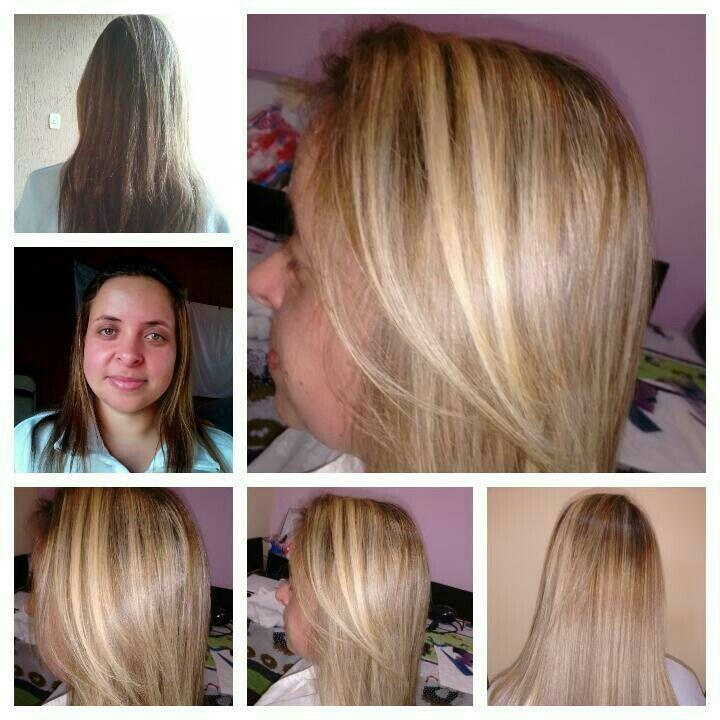 Descolori com ox de 30, tonalizei com 10.89, banho de queratina, e SOS, cortei. cabelo cabeleireiro(a)