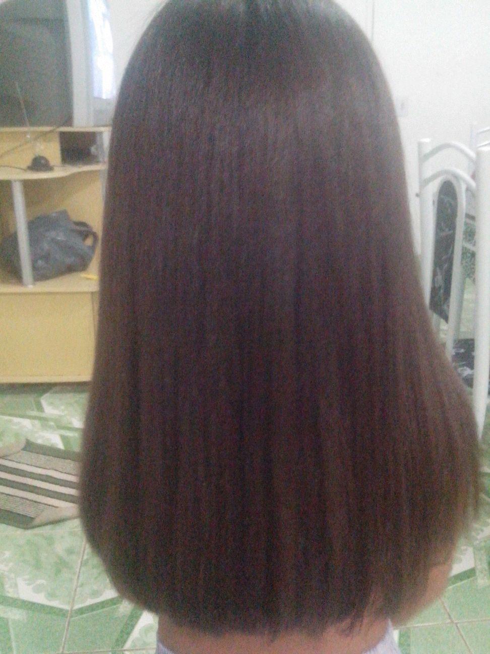Depois com Botox capilar cabelo cabeleireiro(a) manicure e pedicure