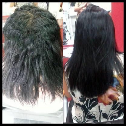 alisamento antes e depois cabelo cabeleireiro(a)