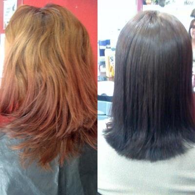 correção de cor e corte cabelo cabeleireiro(a)