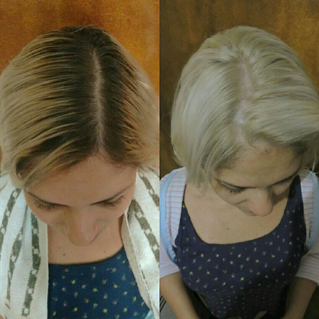 Mechas em transparência costuradas duas vezes e coladas na raiz para efeito decapado. auxiliar cabeleireiro(a) cabeleireiro(a) cabeleireiro(a)