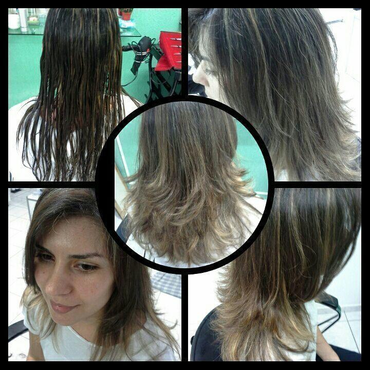 Ombre hair  cor de mel  Profissional  Veravisagista stylist / visagista cabeleireiro(a)