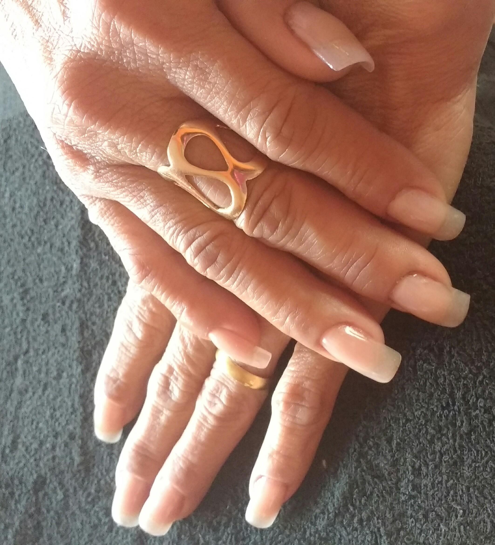 Gel moldada. 😉 unha manicure e pedicure