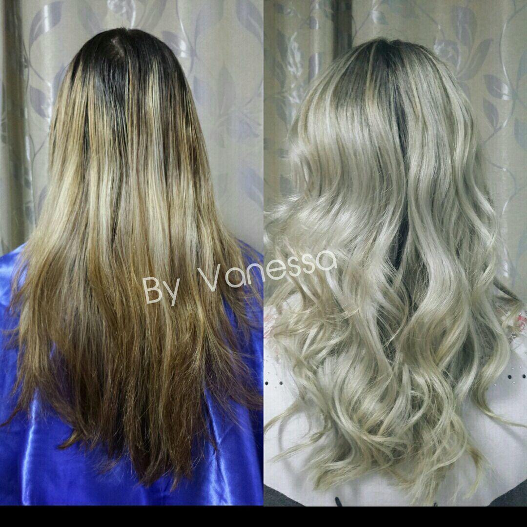 Ombre, correção de cor cabelo cabeleireiro(a) auxiliar cabeleireiro(a)