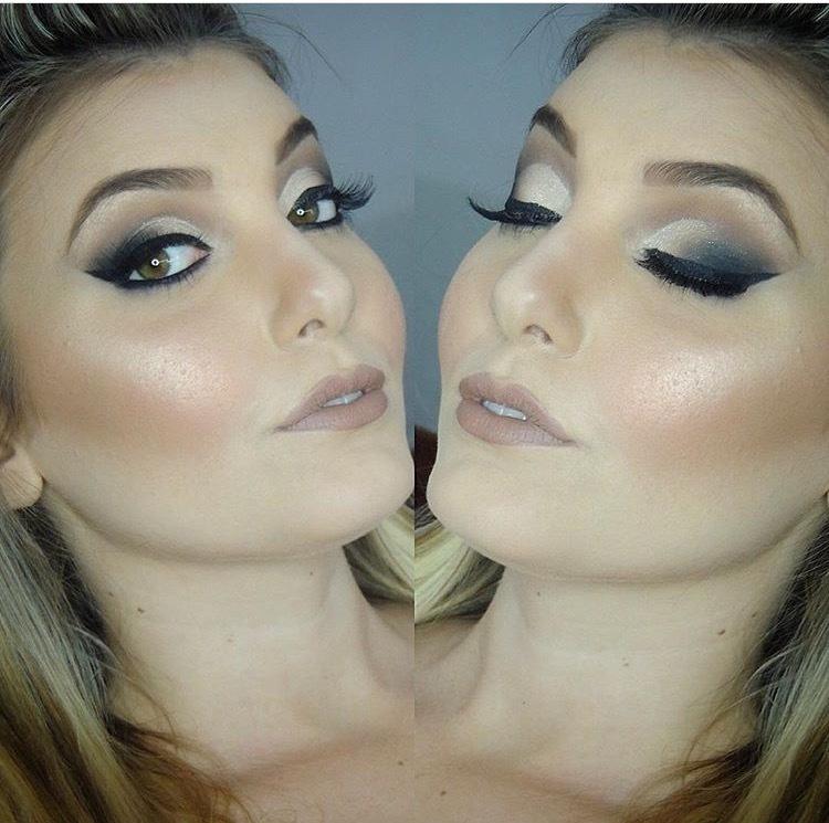 Maquiagem pele iluminada. maquiagem maquiador(a)