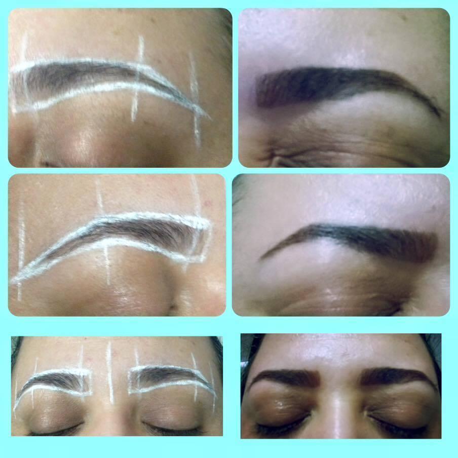 Design de sobrancelhas - antes e depois - com henna outros designer de sobrancelhas maquiador(a)
