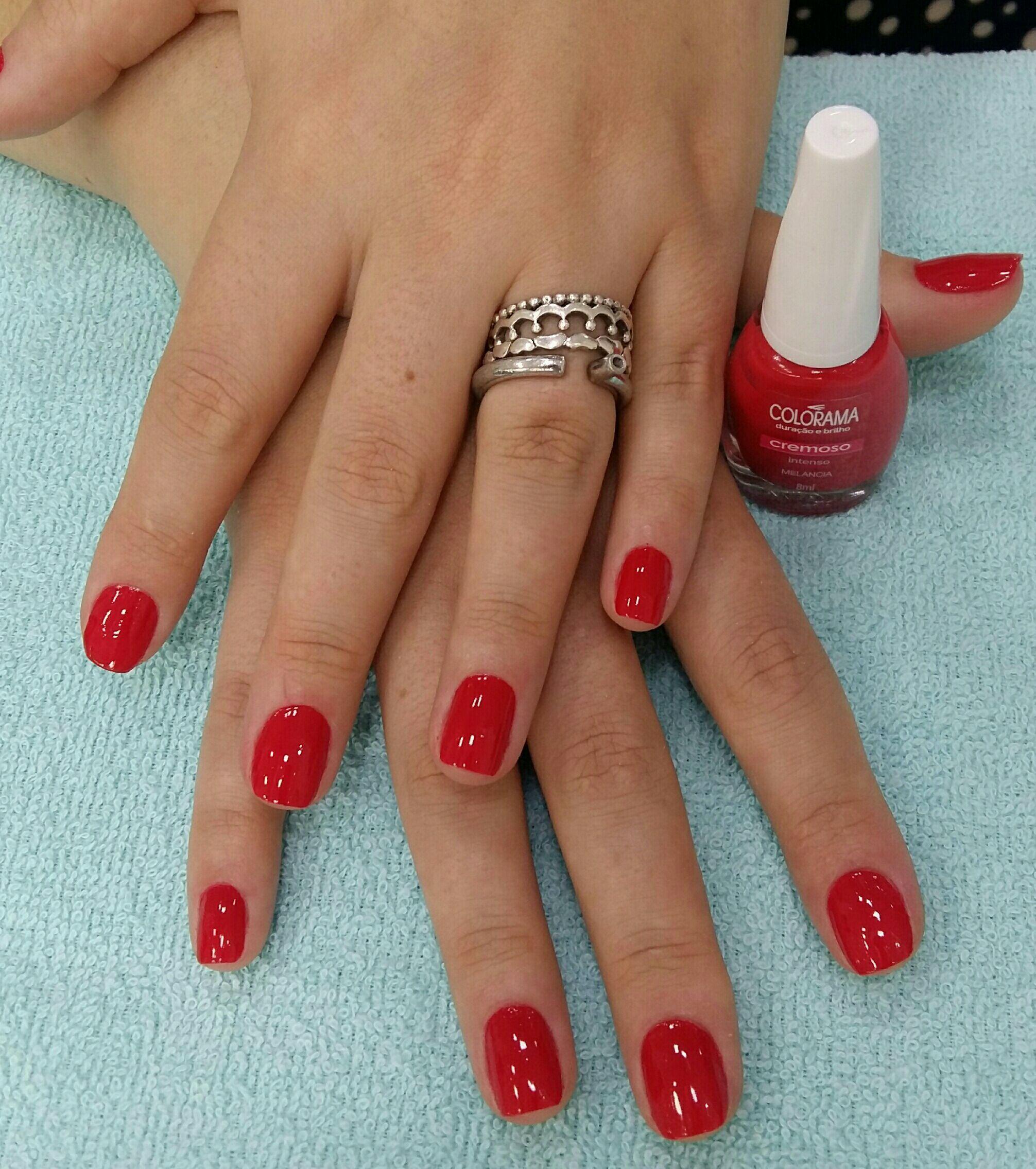 Vermelho clássico! unha manicure e pedicure designer de sobrancelhas manicure e pedicure manicure e pedicure