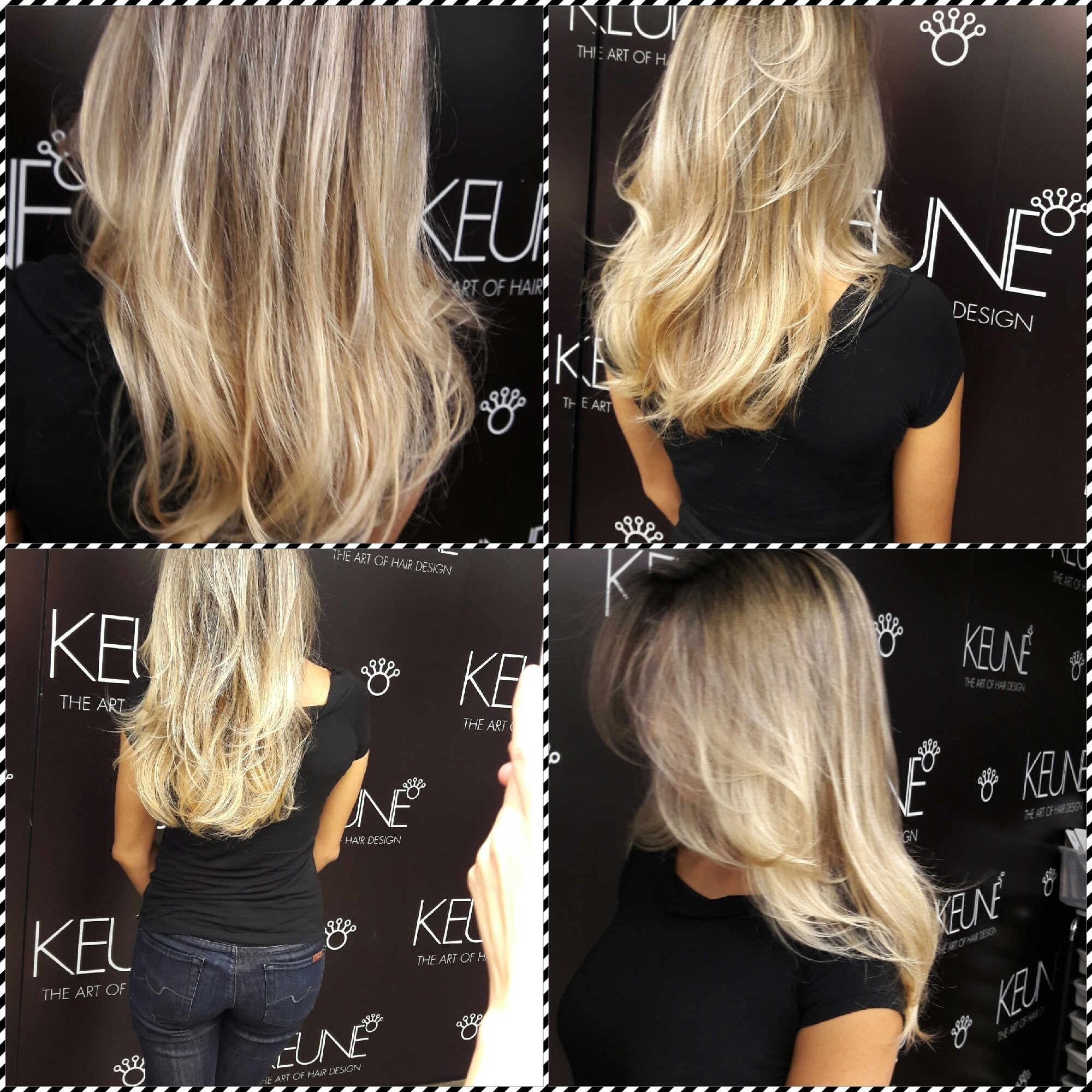 Cabelo feito no curso Intensive Keune SP.  cabelo gerente