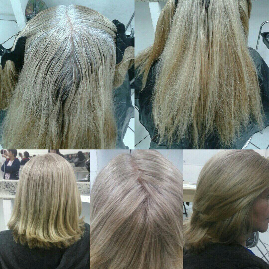 Coloração com 70% fios brancos, corte e escova cabelo cabeleireiro(a) auxiliar cabeleireiro(a) barbeiro(a)