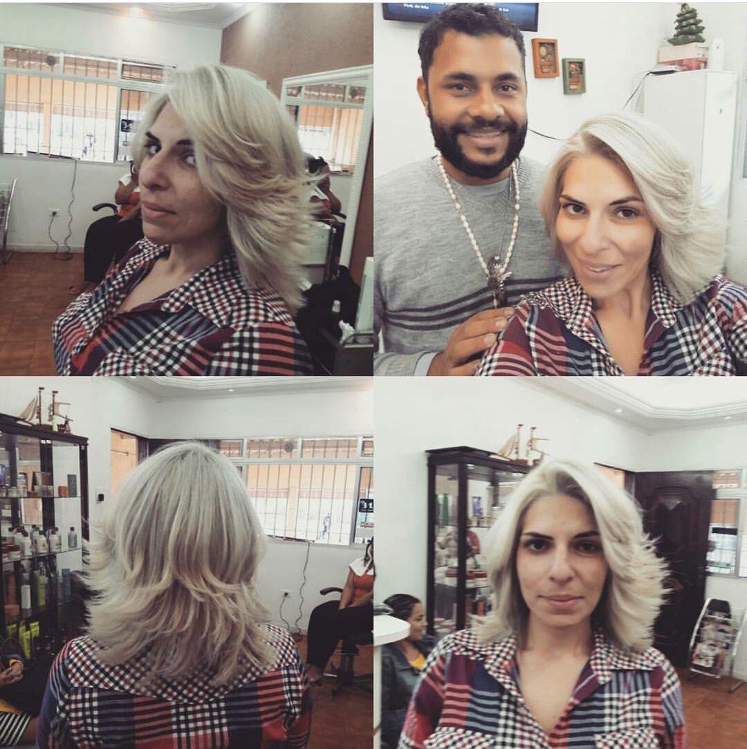 O cabelo foi descolorido até chegar a altura do 9 depois colorido 15/19 da Keune cabelo cabeleireiro(a) dermopigmentador(a) designer de sobrancelhas maquiador(a) cabeleireiro(a)
