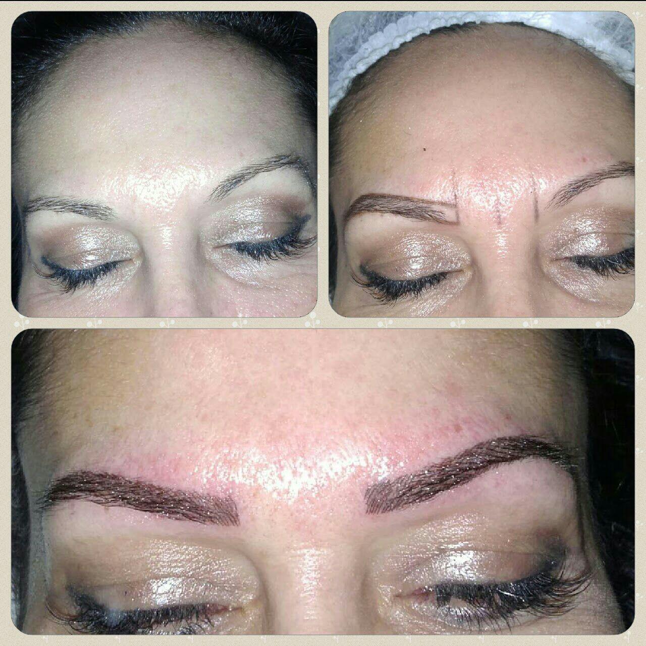 Correcao de falhas Sobrancelha Hibrida estética micropigmentador(a) designer de sobrancelhas esteticista depilador(a)