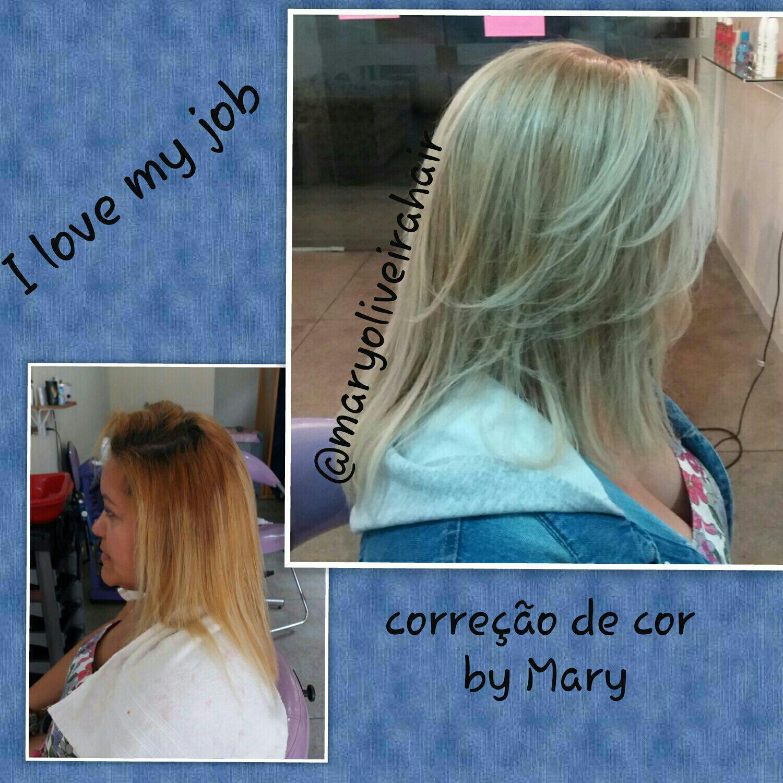 correção de cor cabelo cabeleireiro(a)