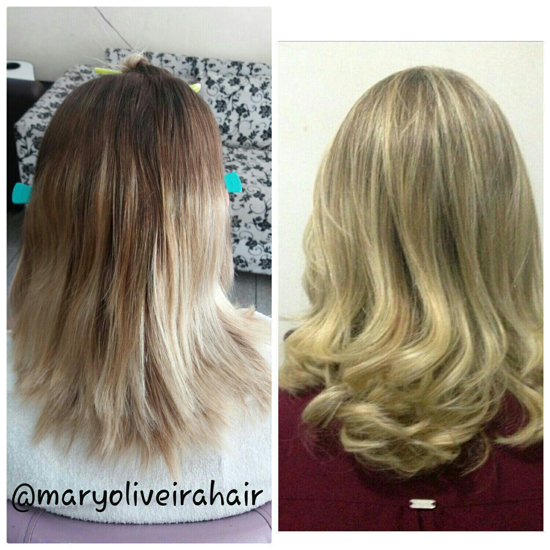 Correção de cor. cabelo cabeleireiro(a)