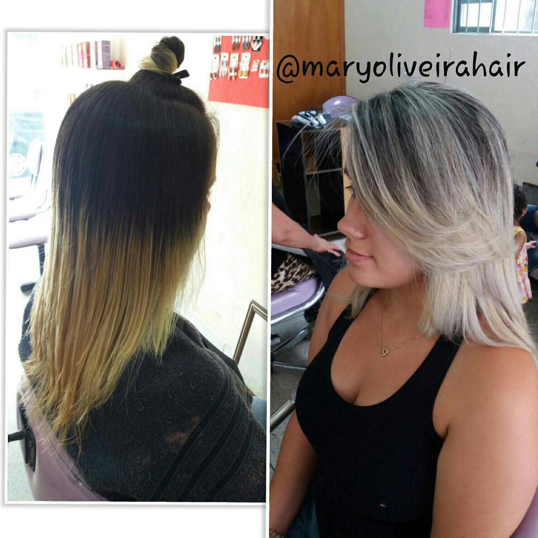Luzes platinadas😍😍 cabelo cabeleireiro(a)