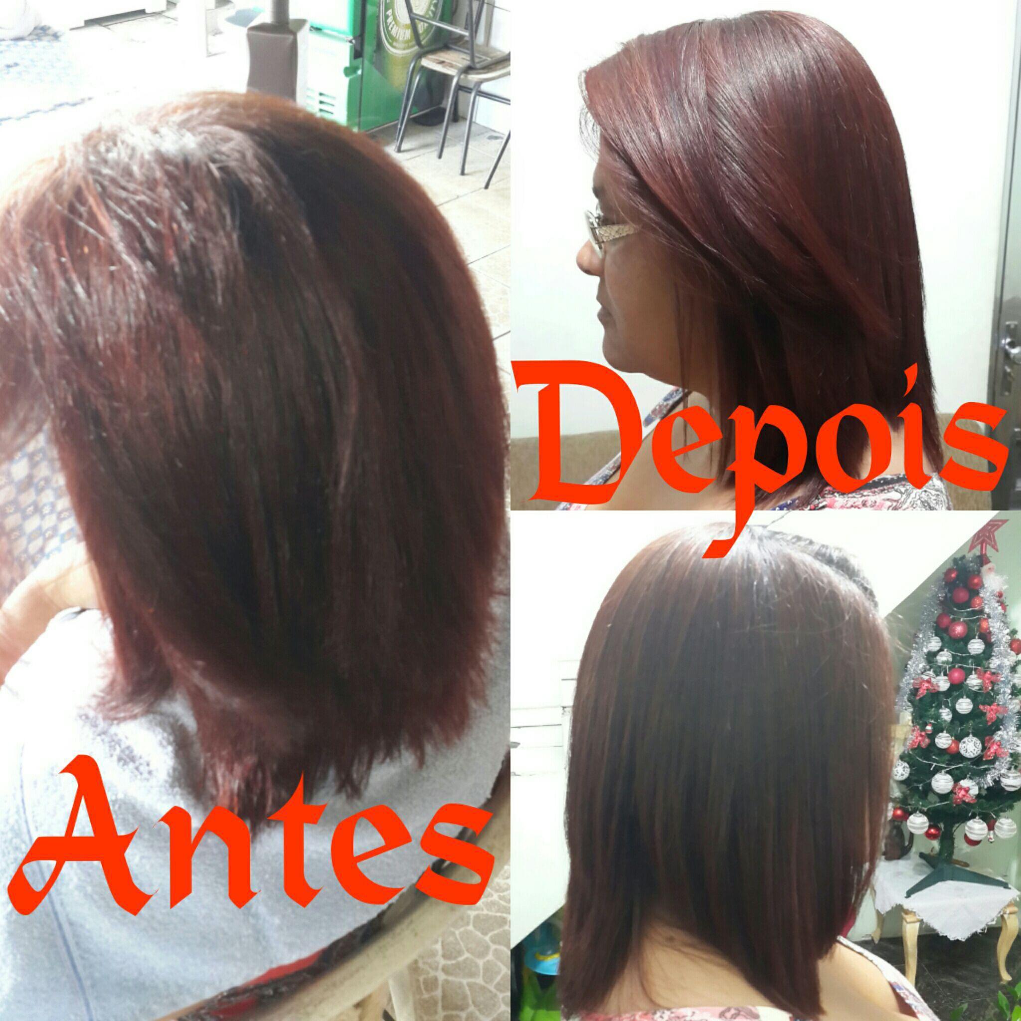 Fiz Progressiva com o Produto Zap. cabelo auxiliar cabeleireiro(a)