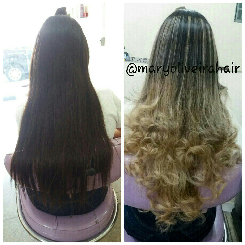 Ombre hair cabelo cabeleireiro(a)