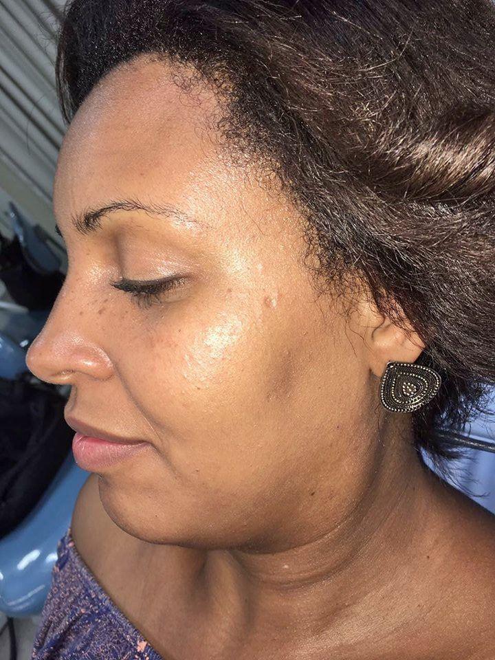 Pele Negra (Antes) maquiagem recepcionista maquiador(a)