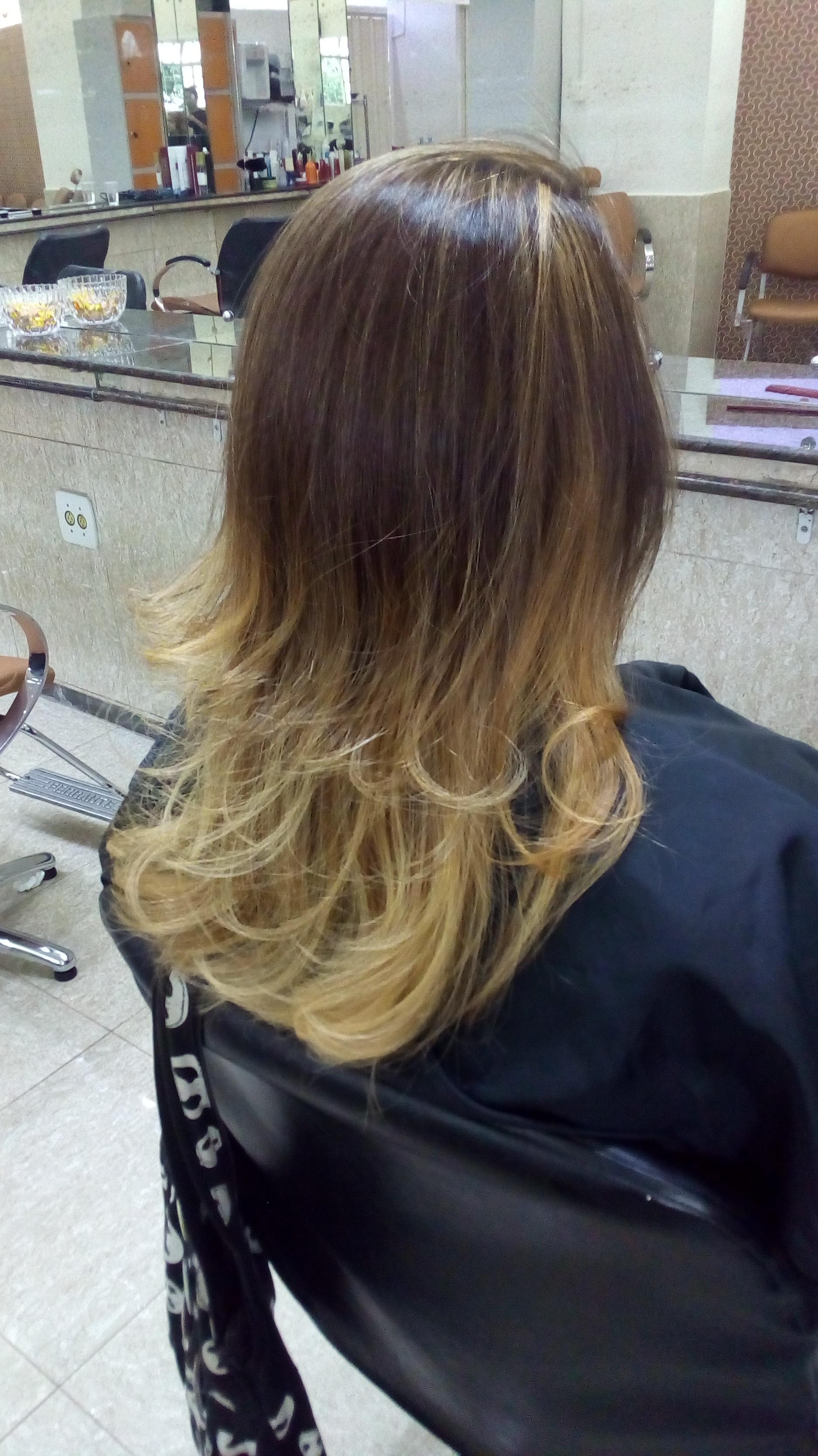 Mechas costuradas e desfiadas ! cabelo auxiliar cabeleireiro(a)