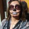 Maquiagem artística - festa de halloween - Caveira Mexicana. Veja mais no meu Blog Vaidosas de Batom:  www.vaidosasdebatom.com