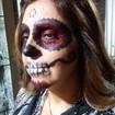 Maquiagem Artística - festa de halloween - Caveira Mexicana Veja mais no meu Blog Vaidosas de Batom:  www.vaidosasdebatom.com