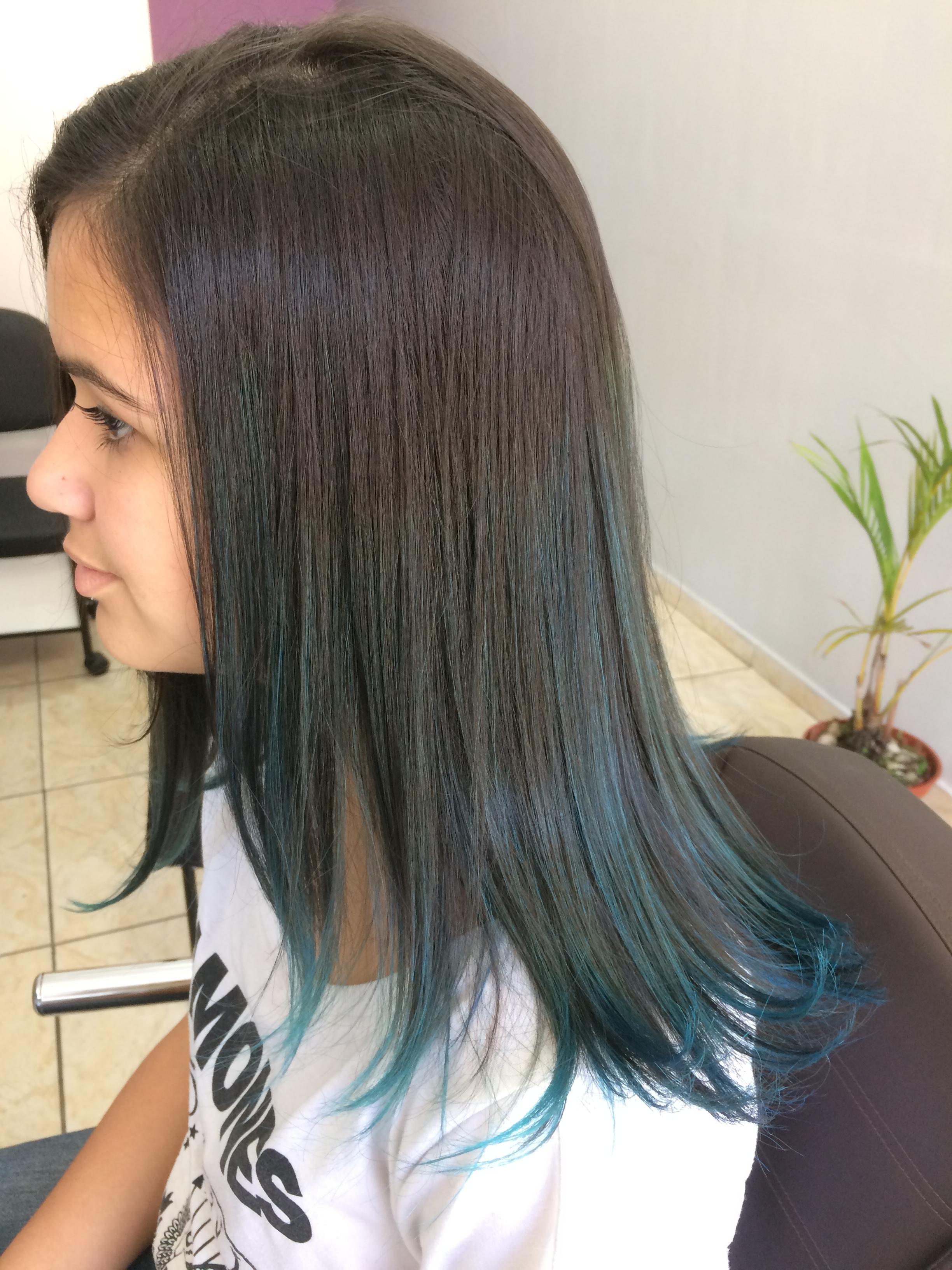 Mechas Californianas Blue!!! cabelo cabeleireiro(a) barbeiro(a)