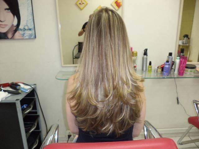 Reflexo de papel e corte em camadas... cabelo cabeleireiro(a) barbeiro(a)