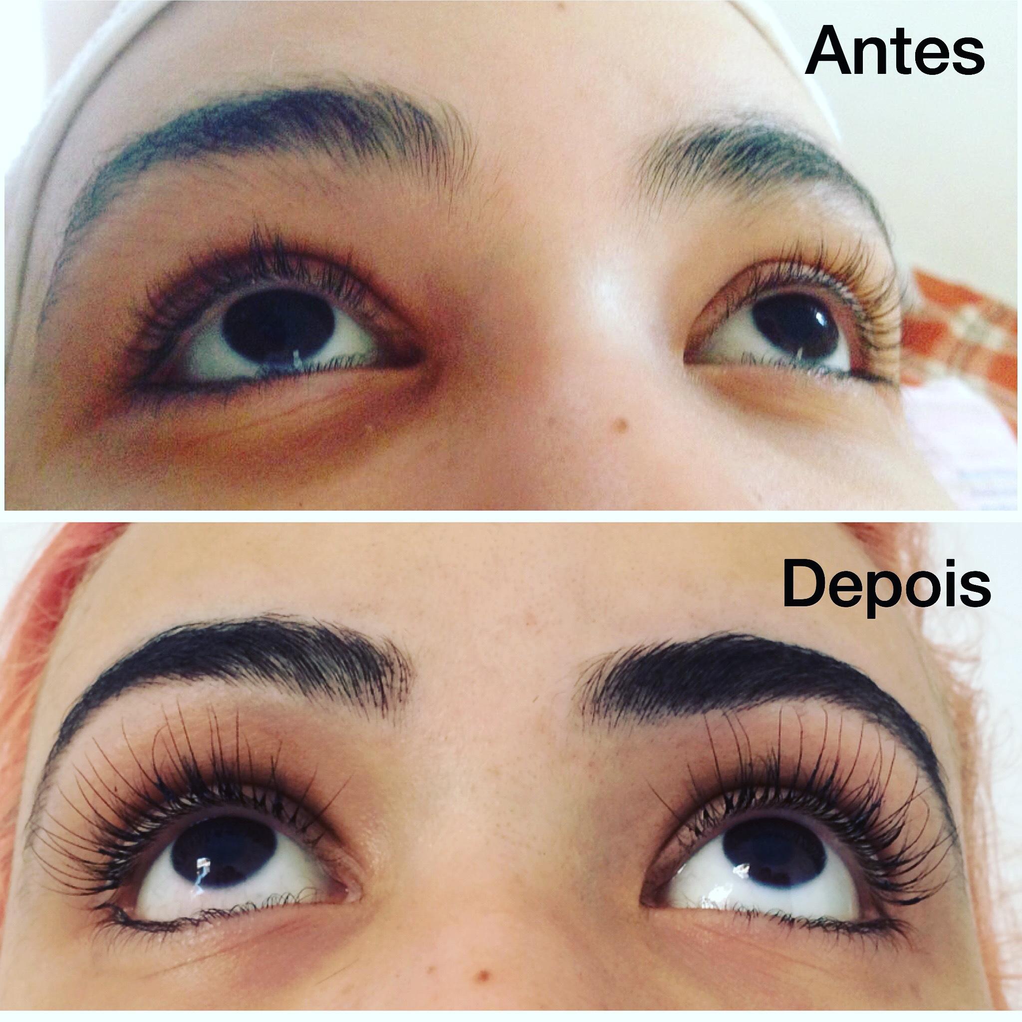 Antes e Depois  #designdesobrancelhas #alongamentodeciliosfioafio  outros depilador(a) designer de sobrancelhas