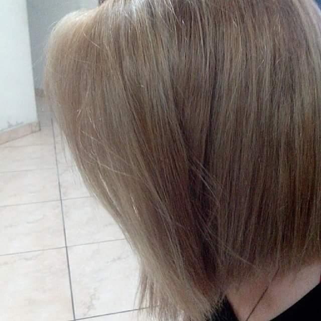 Correção de tom. Loiro escuro. Corte Chanel com ponta. #cortechanel #loiro #louroescuri cabelo assistente maquiador(a) auxiliar cabeleireiro(a) auxiliar administrativo recepcionista