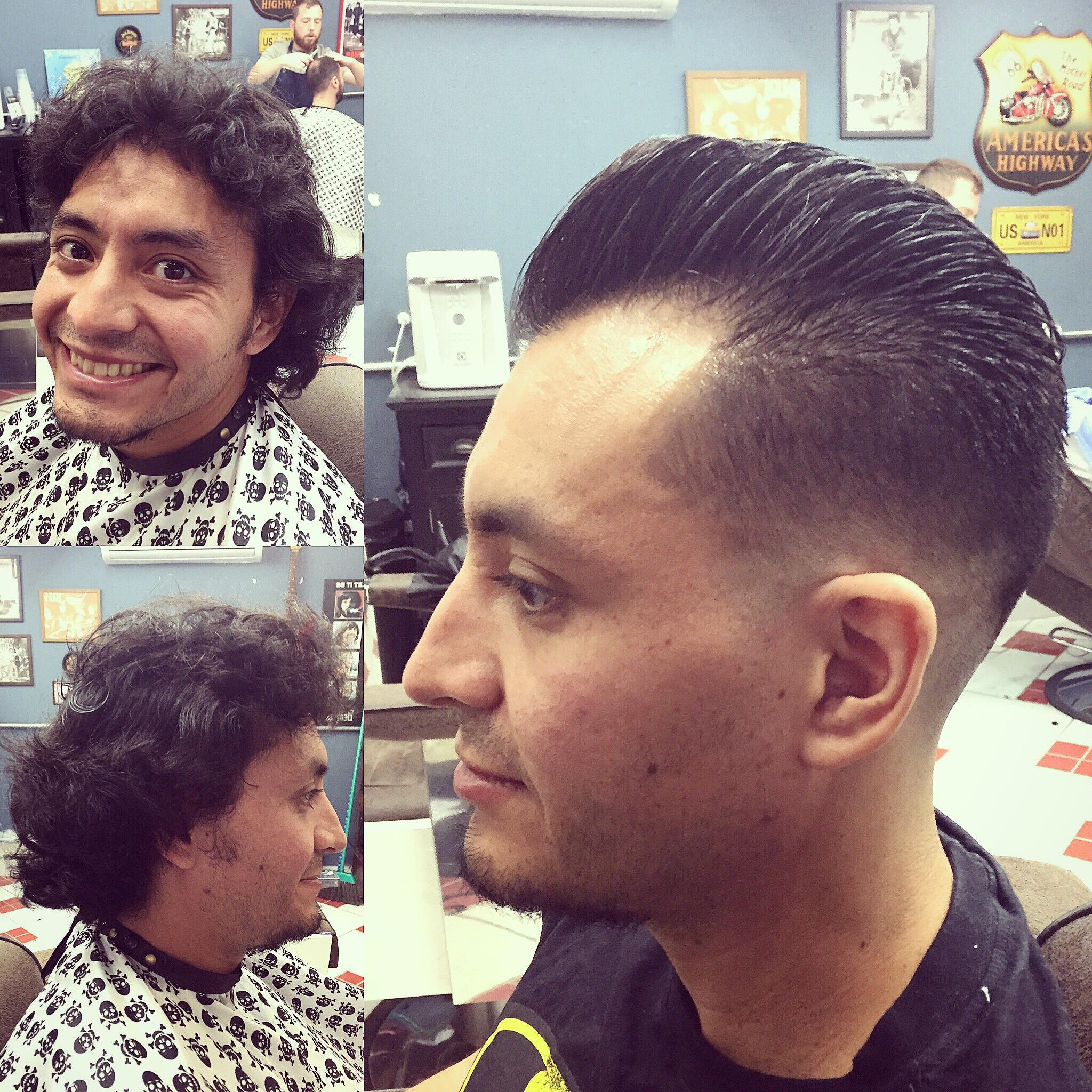 Pomp cabelo barbeiro(a)