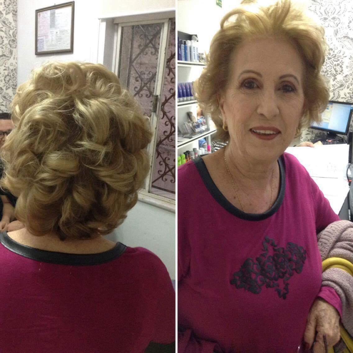 Cliente pronta para a festa  maquiagem cabeleireiro(a) maquiador(a) designer de sobrancelhas