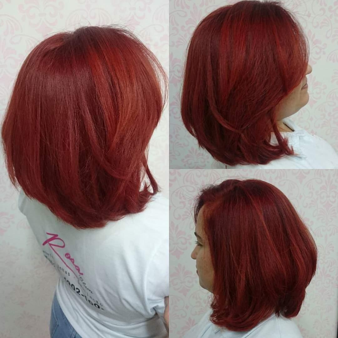 #redhair #colorhair #haircolor #hair #haircut #chanel #cabeloscoloridos #cabelovermelho  cabelo cabeleireiro(a) maquiador(a) designer de sobrancelhas