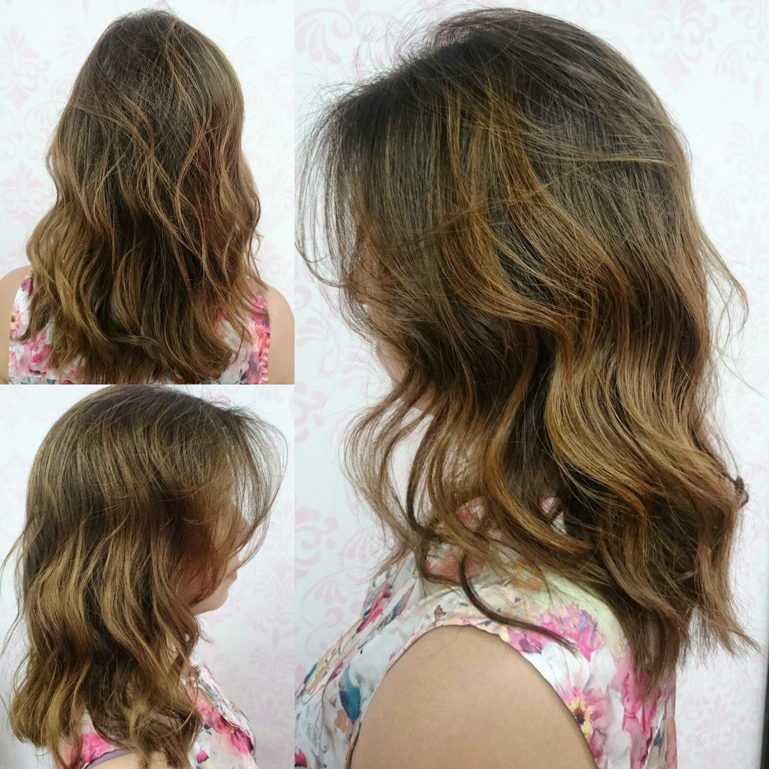 #job #transformation #transformacao #cabelos #cabelosloiros #morenailuminada #brunette #loirosacobreados #canelatostada #blonde  #hair cabelo cabeleireiro(a) maquiador(a) designer de sobrancelhas