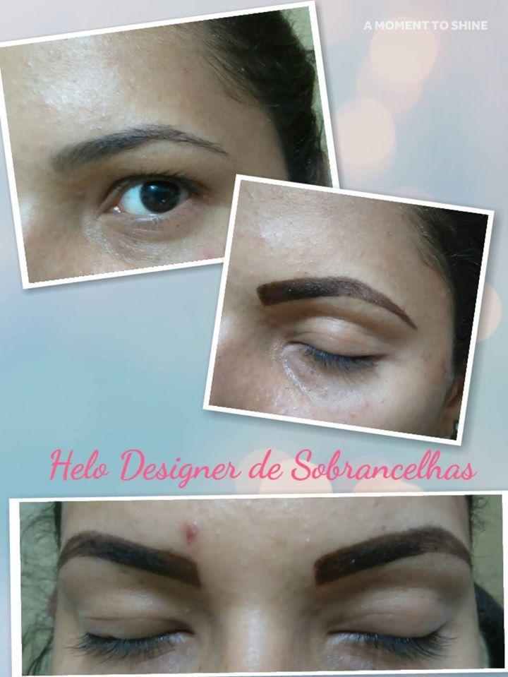 Com um belo Designer e uma aplicação de henna perfeita!! designer de sobrancelhas micropigmentador(a)