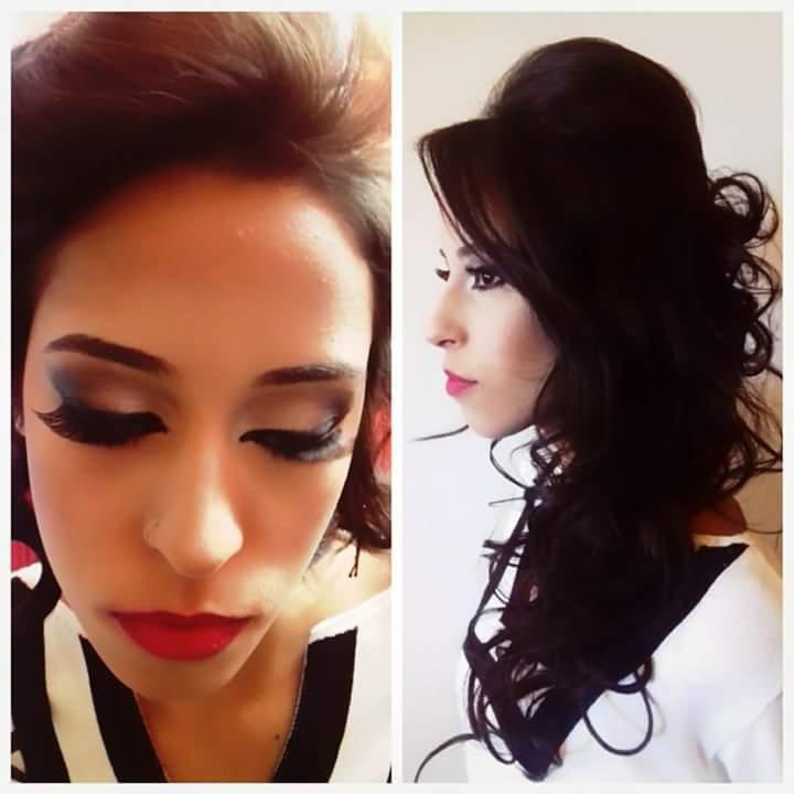 Cabelo e make up. cabelo cabeleireiro(a)