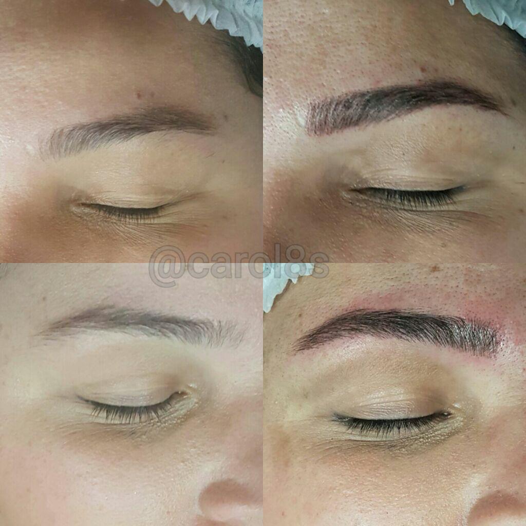 Microblading sobrancelha fio à fio outros maquiador(a) auxiliar cabeleireiro(a) designer de sobrancelhas