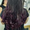 # Ombré hair em roxo