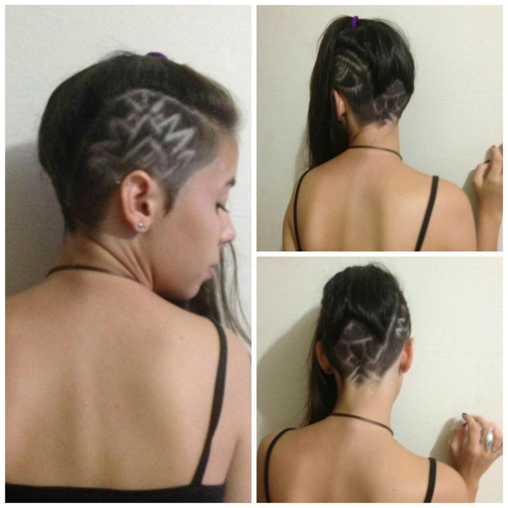 Corte de cabelo  escolha do cliente mais desenhos.  cabelo barbeiro(a)