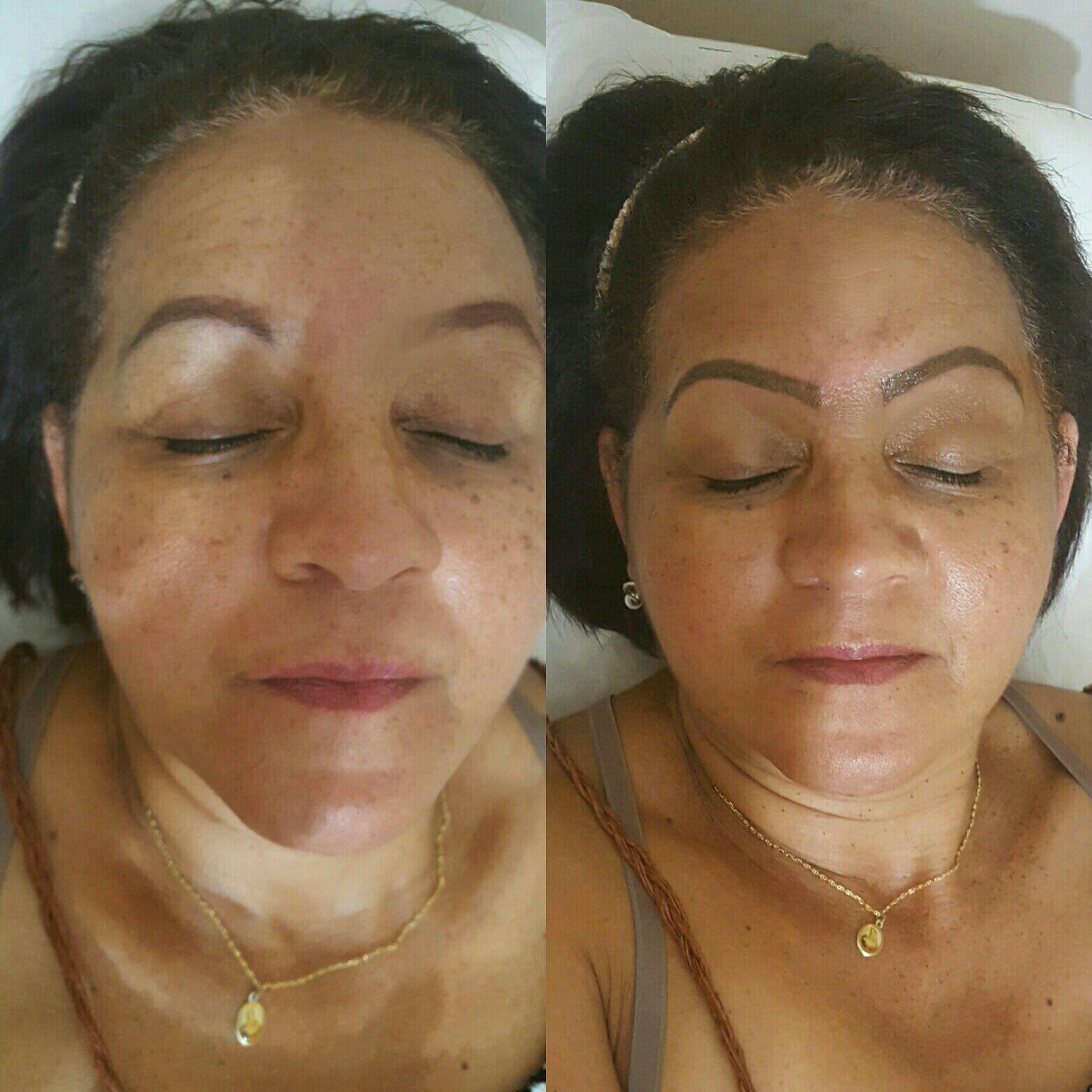 Micropigmentação de sobrancelhas, técnica esfumada. estética cabeleireiro(a) maquiador(a) micropigmentador(a)