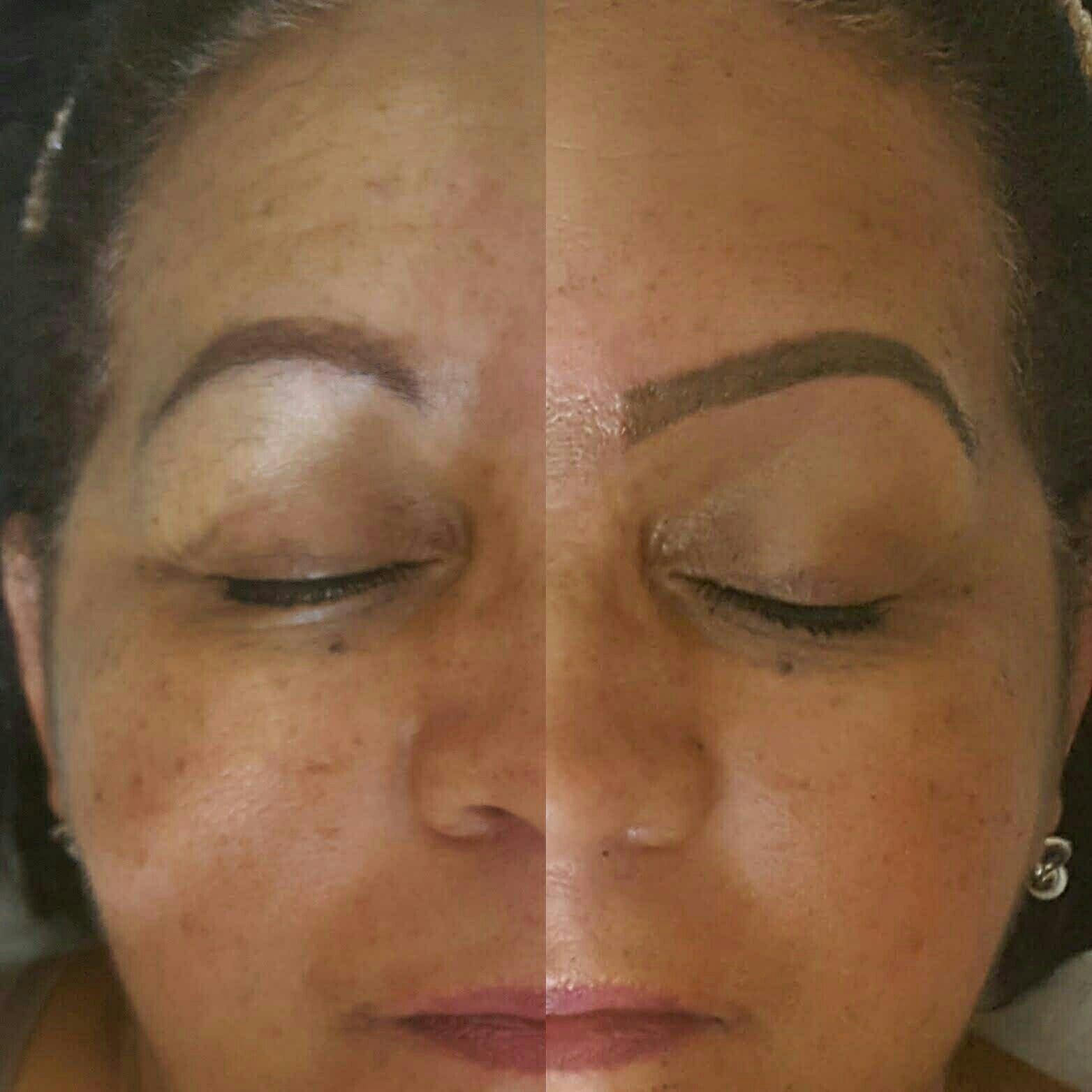 Micropigmentação + designer de sobrancelhas, técnica esfumada estética cabeleireiro(a) maquiador(a) micropigmentador(a)