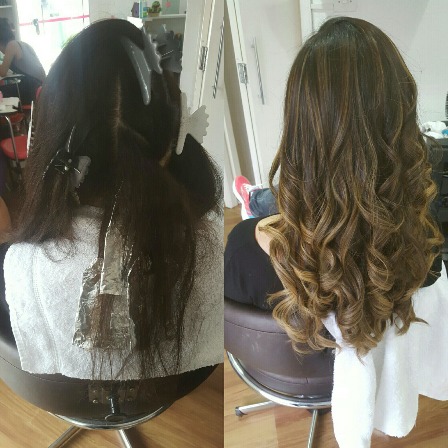 Ombre hair 'morena iluminada', técnica de contorno em tons pastéis. cabelo cabeleireiro(a) maquiador(a) micropigmentador(a)
